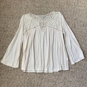Cream colored Lucky Brand blouse